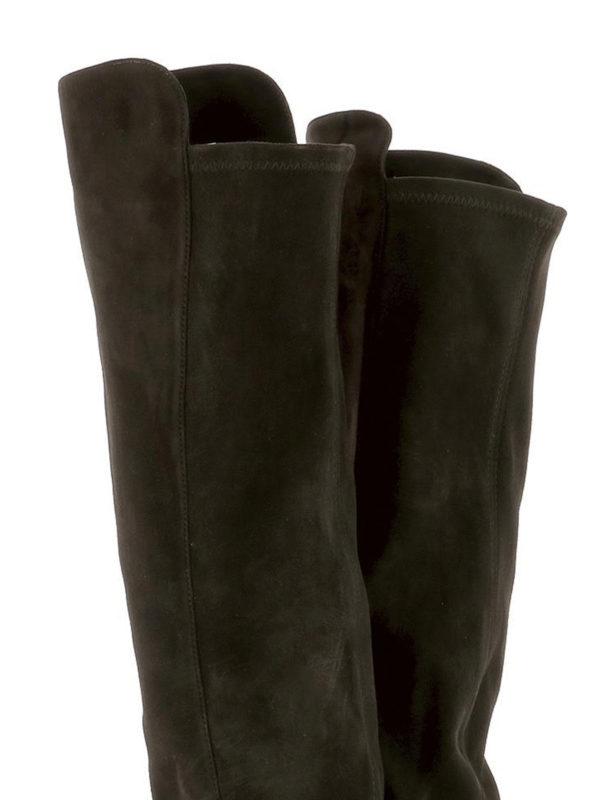 Allgood brown suede boots shop online: Stuart Weitzman