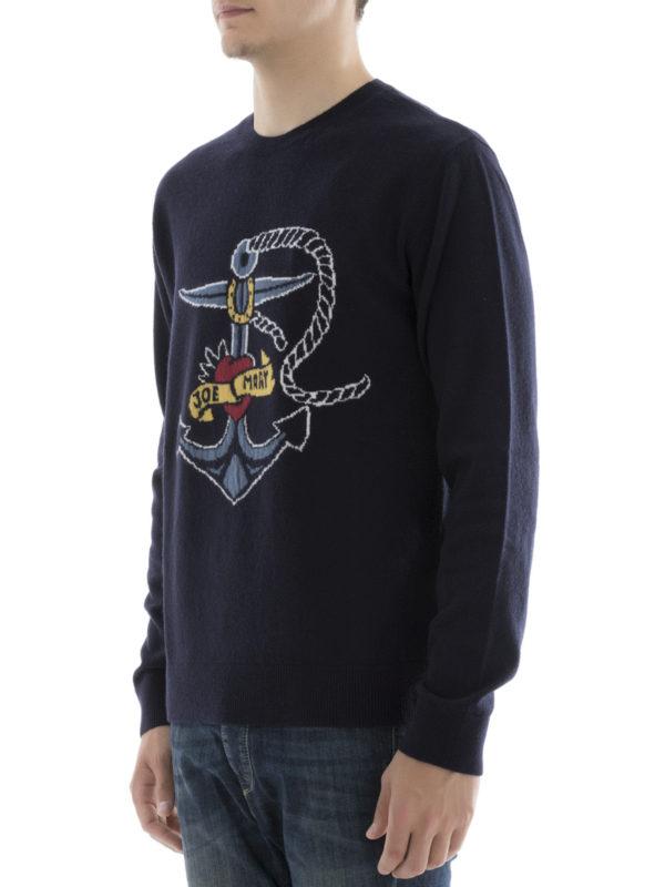 Rundhalspullover - Blau shop online: Valentino