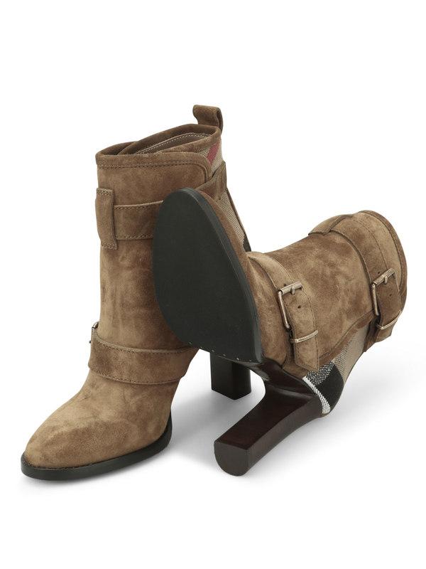 Stiefeletten shop online. Stiefeletten aus Veloursleder