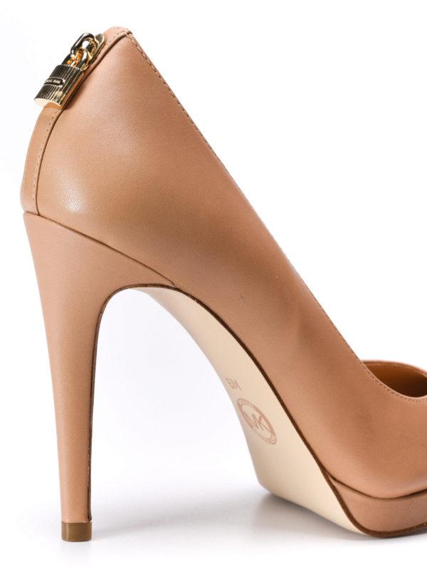 Antoinette leather platform pumps shop online: Michael Kors