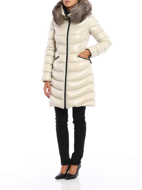 Aphia Fur Trimmed Hooded Down Coat By Moncler Padded