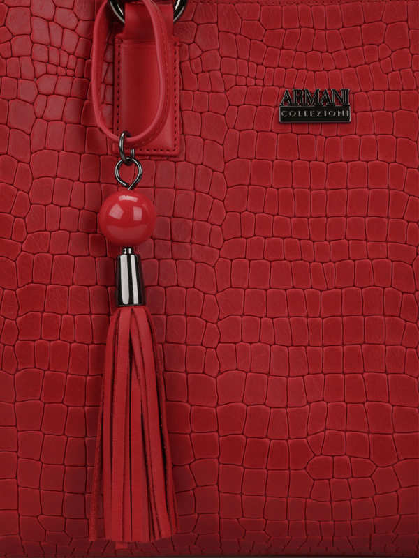 Armani buy online Crocodile texture shopping tote