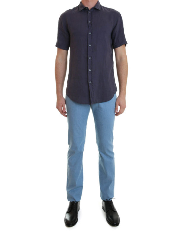 008d402cd5 ARMANI COLLEZIONI: Chemises online - Chemise Bleu Foncé Pour Homme