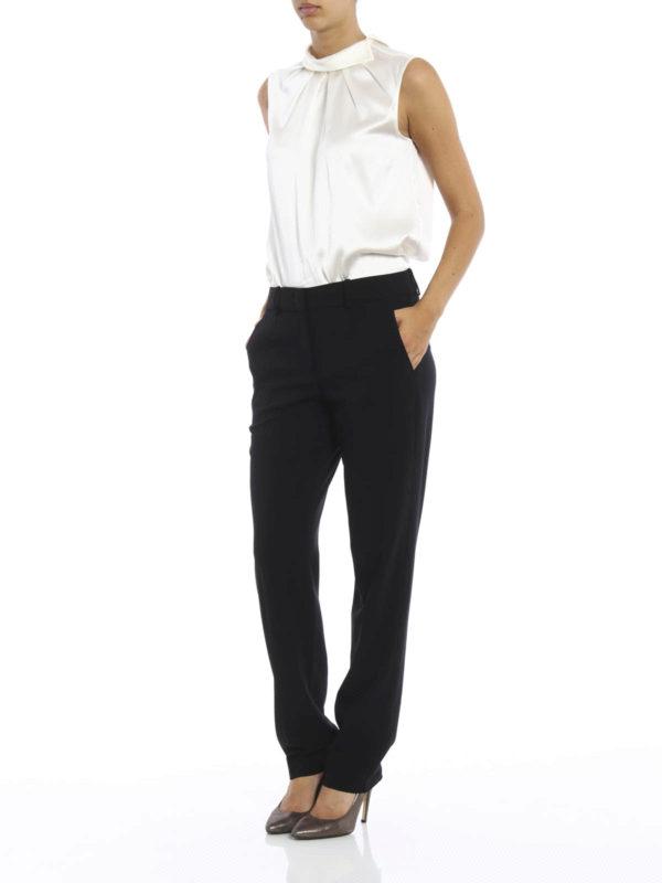 ee4d8403fdbd ARMANI COLLEZIONI  Pantalons élégants online - Pantalon Ajusté Noir Pour  Femme