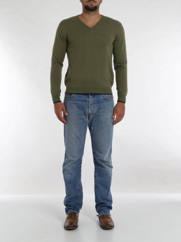 Armani Jeans: v necks online - Blend cotton top