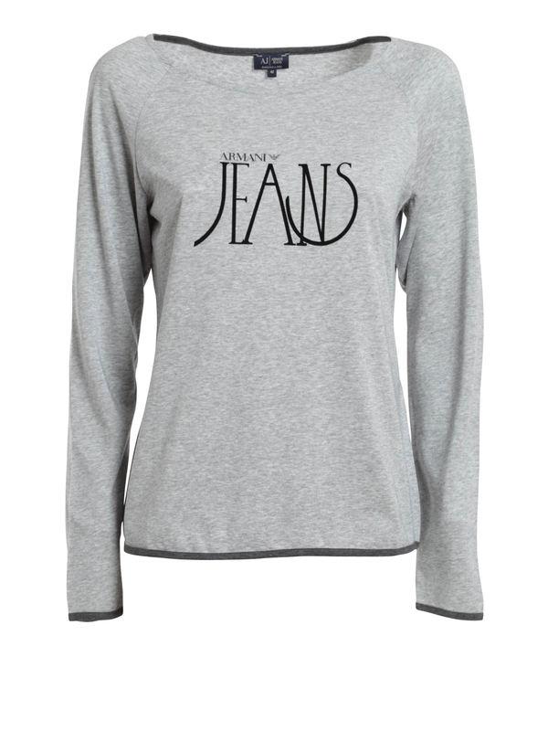 Armani Jeans: t-shirts - Logo print top
