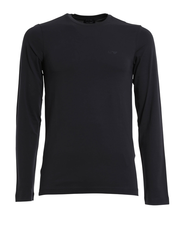 Armani Jeans: T-shirts - Stretch jersey cotton top