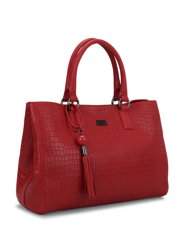 ARMANI: totes bags online - Crocodile texture shopping tote
