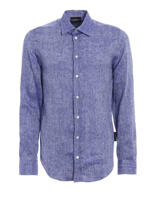How Much Cheap Price Cheap Sale Cheapest Price Linen light shirt Armani Buy Cheap Extremely Pay With Paypal Sale Online lAUPFM3Y