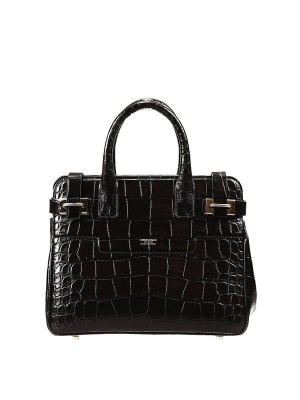 ARMANI: totes bags - Crocodile texture tote