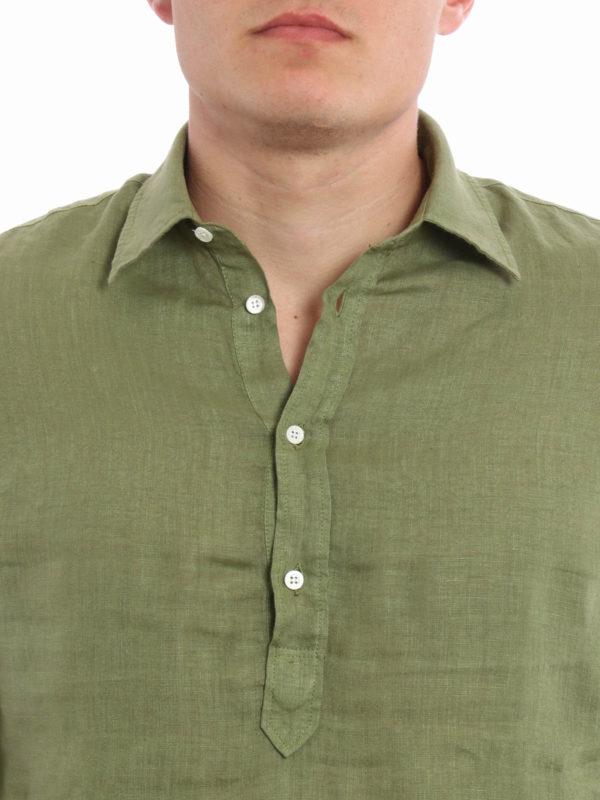 ASPESI buy online Linen polo-inspired shirt