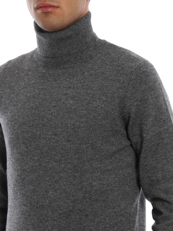 ASPESI buy online Yak and cashmere blend grey turtleneck