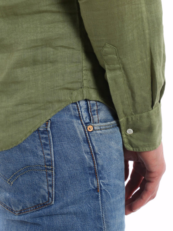 iKRIX ASPESI: Linen polo-inspired shirt