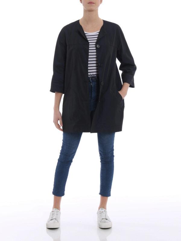 ASPESI: short coats online - Malaga techno taffeta overcoat