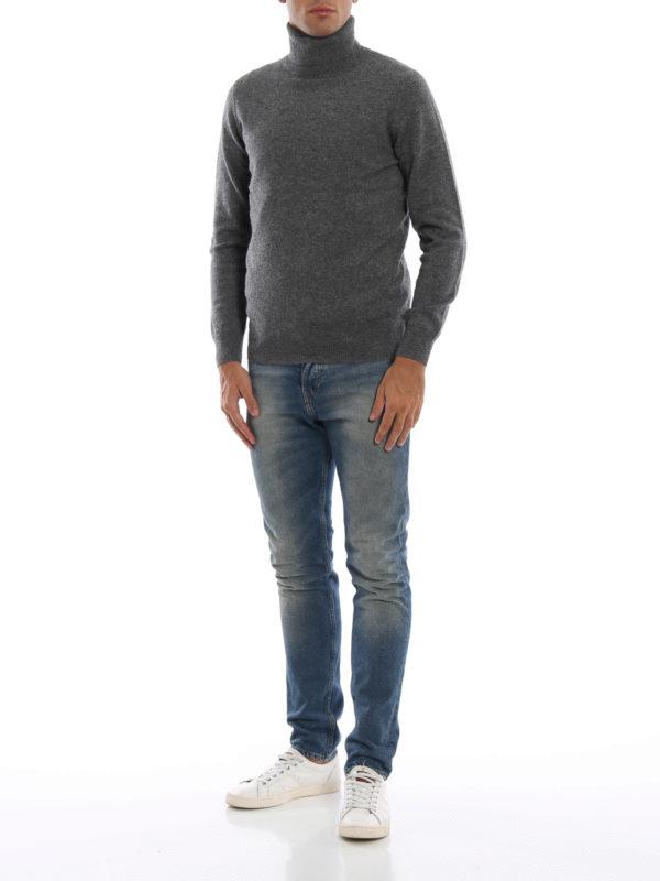 ASPESI: Turtlenecks & Polo necks online - Yak and cashmere blend grey turtleneck