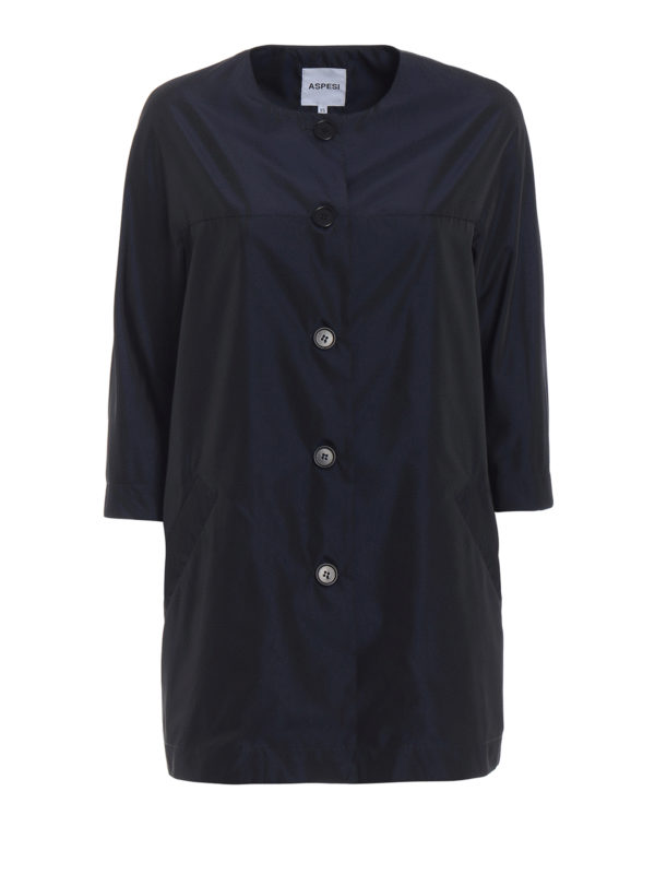 ASPESI: short coats - Malaga techno taffeta overcoat
