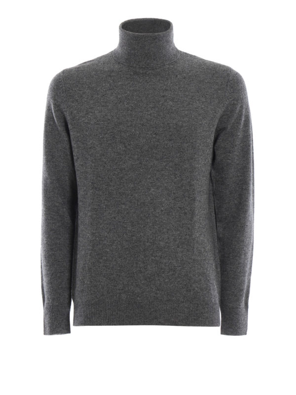 ASPESI: Turtlenecks & Polo necks - Yak and cashmere blend grey turtleneck