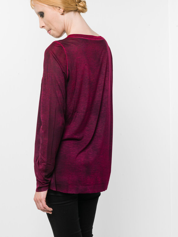 Asymmetric boatneck top shop online: Avant Toi