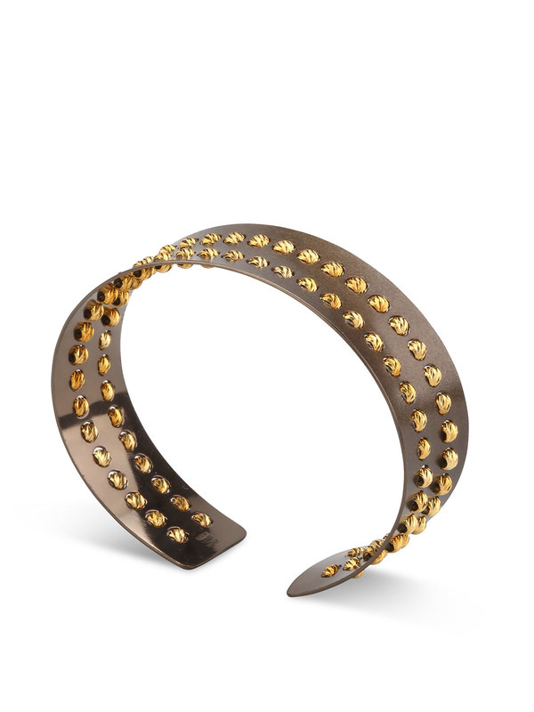 Athomie: Bracelets & Bangles online - Sterling silver bead cuff