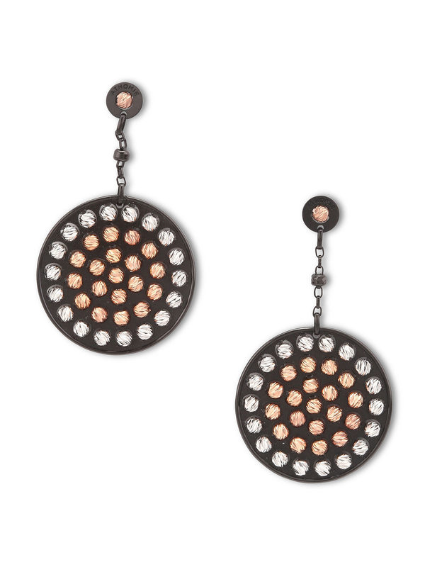 Athomie: Earrings - Sterling silver bead disc earrings
