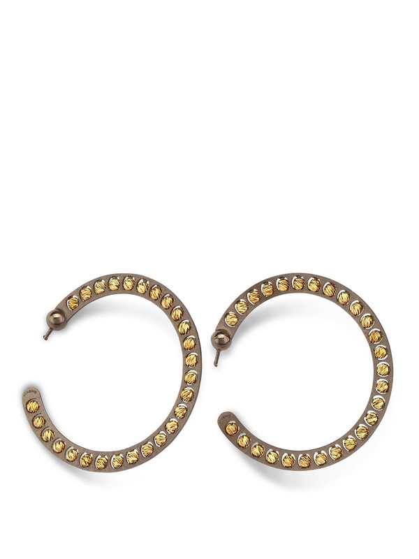 ATHOMIE: Ohrringe - Silber Band-Ohrringe