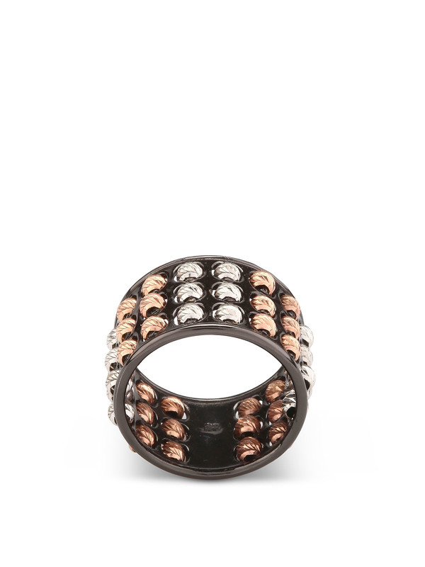 Athomie: Rings online - Sterling silver 3-row bead ring