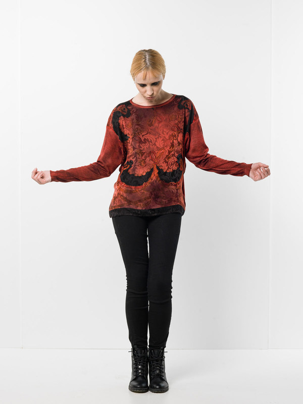 Avant Toi: boat necks - Boatneck  top with foulard