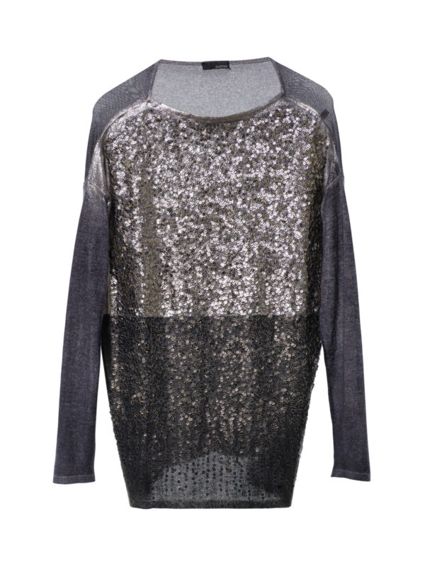Avant Toi: boat necks - Loose fit sequined top