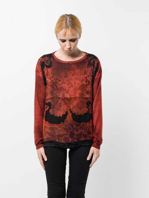 Avant Toi: boat necks online - Boatneck  top with foulard