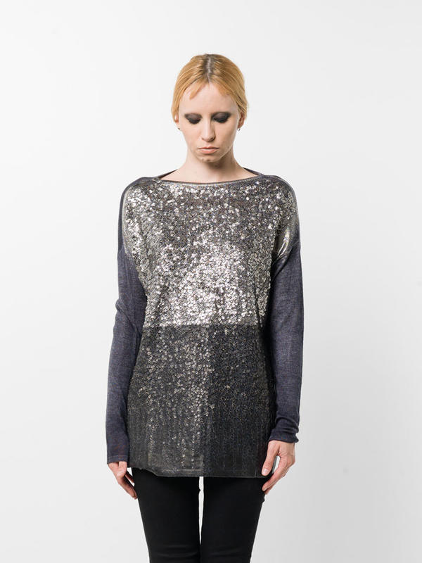 Avant Toi: boat necks online - Loose fit sequined top