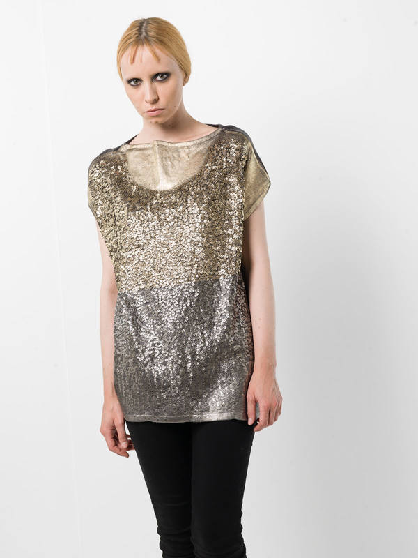 Avant Toi:  online - Sleeveless sequined top