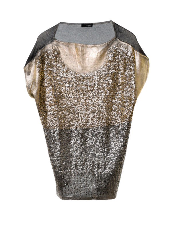 Avant Toi: boat necks - Sleeveless sequined top