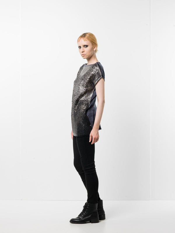 Avant Toi: boat necks - Sleeveless sequined top