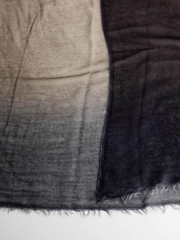 Avant Toi buy online Bicoloured fading scarf