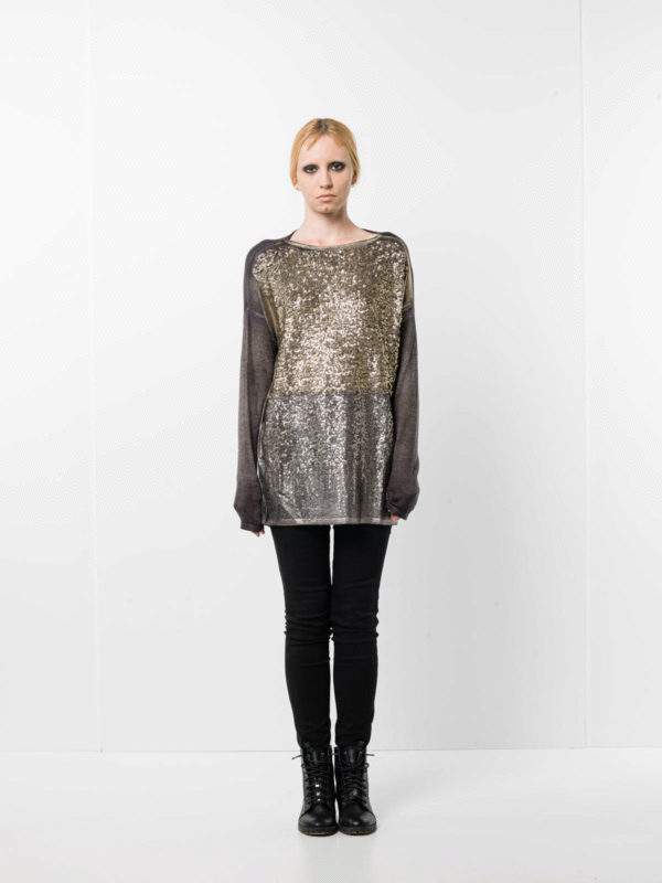Avant Toi buy online Loose fit sequined top