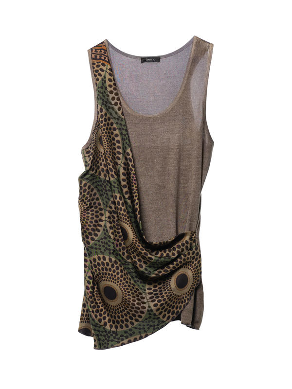 Avant Toi buy online Sleeveless top with foulard