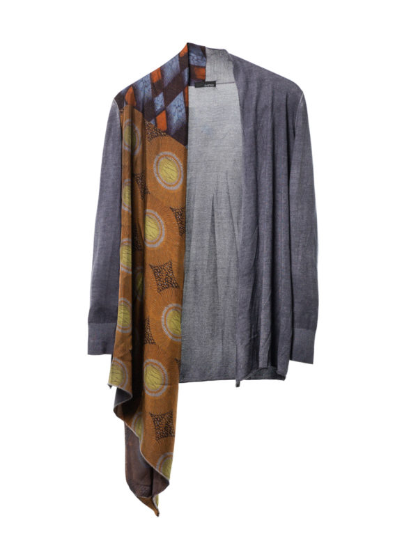 Avant Toi: cardigans - Cardigan with draped foulard