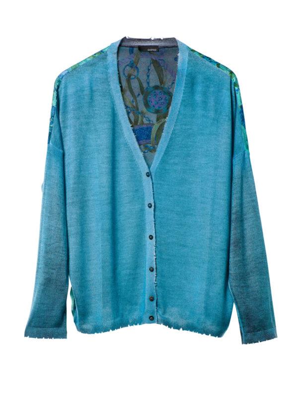 Avant Toi: cardigans - Cardigan with foulard