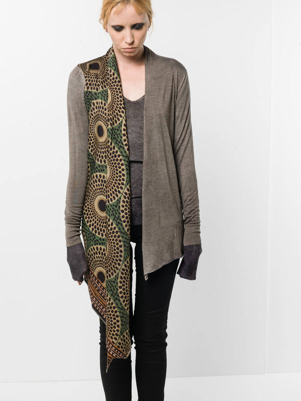 Avant Toi: Cardigans online - Cardigan with draped foulard