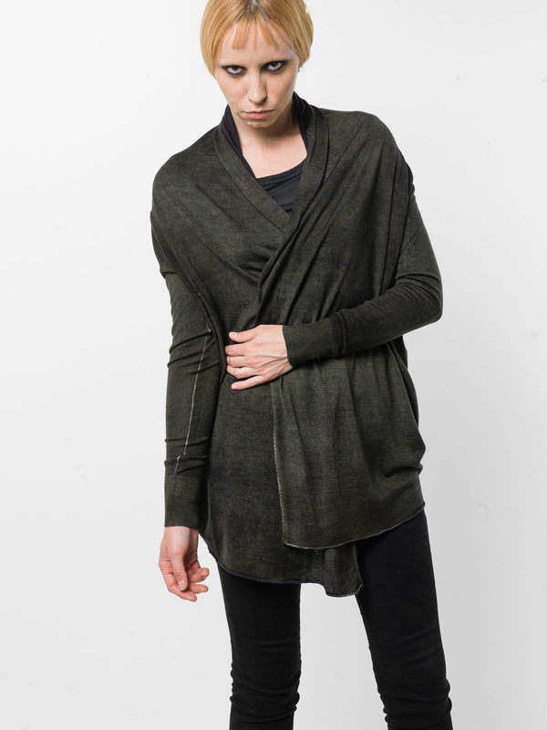 AVANT-TOI: cardigans online - Shawl neck cardigan