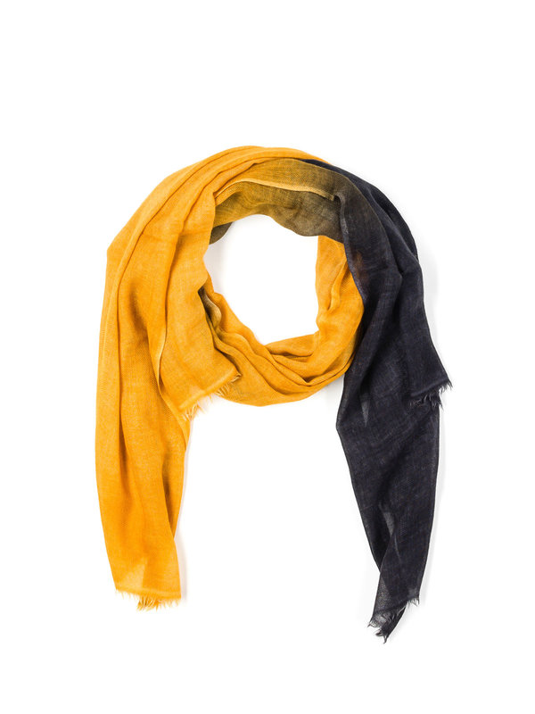 Avant Toi: Schals - Yellow / black scarf
