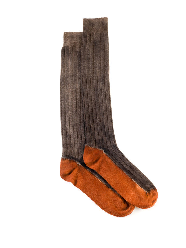 Avant Toi: socks - Ribbed cashmere socks