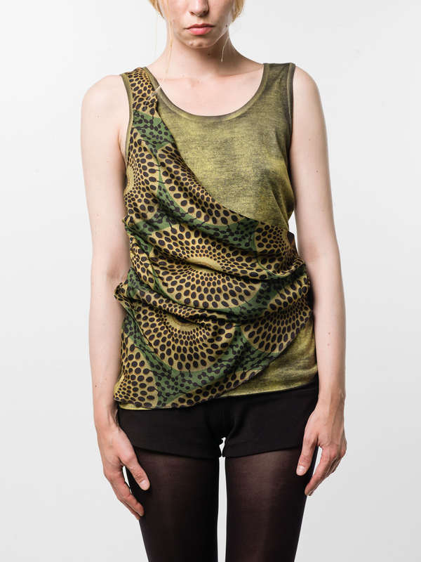 Avant Toi: Tops und Tank Tops online - Round neck top with foulard