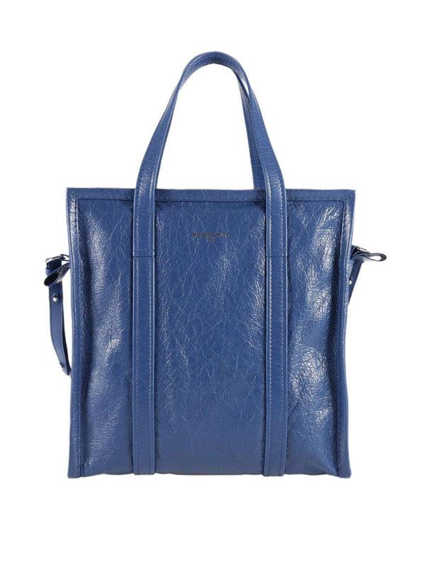 Balenciaga: Handtaschen - Shopper - Blau