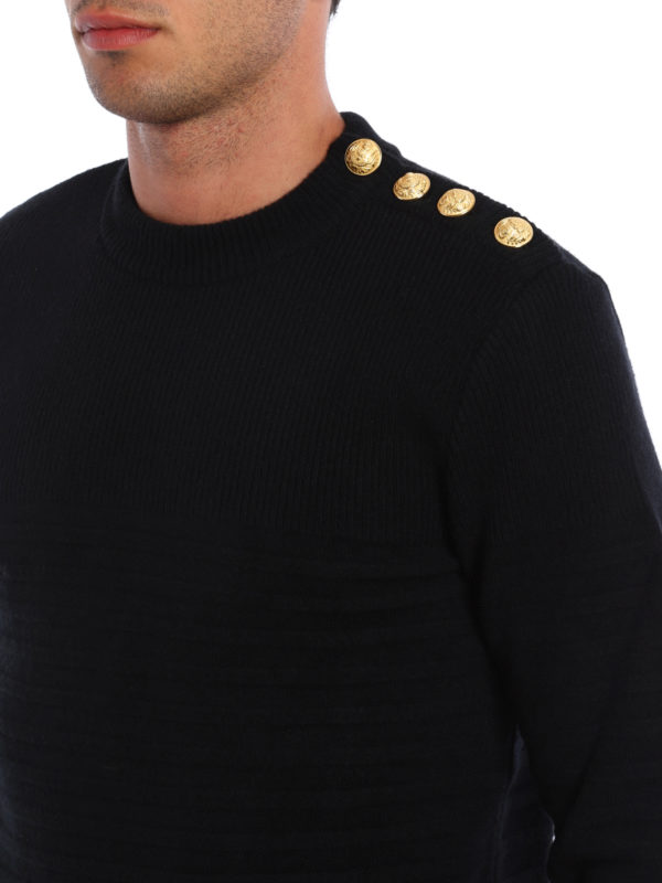 many fashionable huge selection of large discount Balmain - Marinière wool pullover - crew necks - H6654M050176