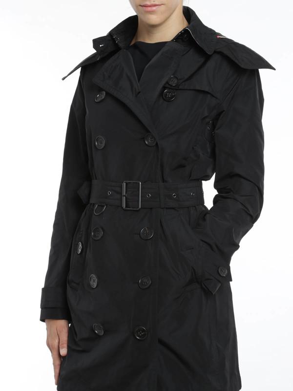 Trenchcoat Fur Damen - Schwarz