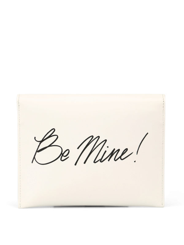 Be Mine leather clutch shop online: MOSCHINO