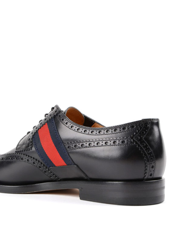 Bee Web brushed leather brogues shop online: Gucci