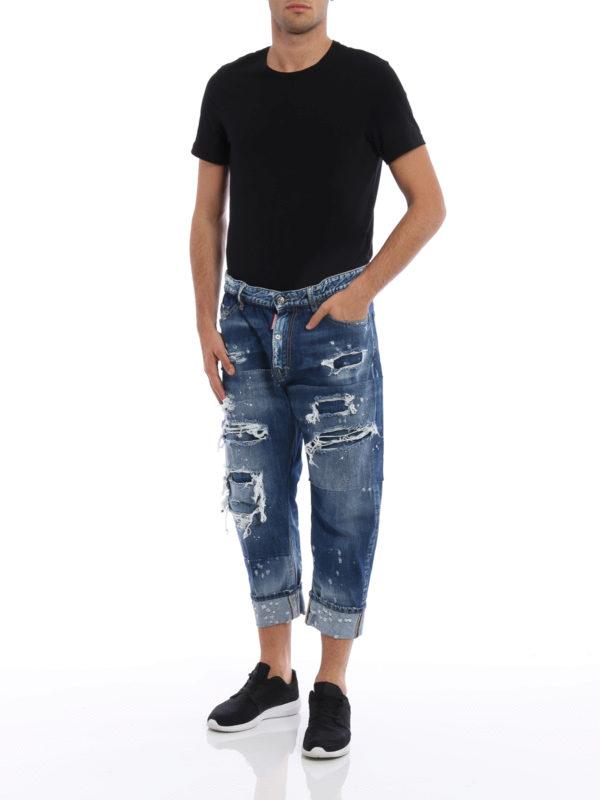 Straight Leg Jeans - Light Wash shop online: Dsquared2