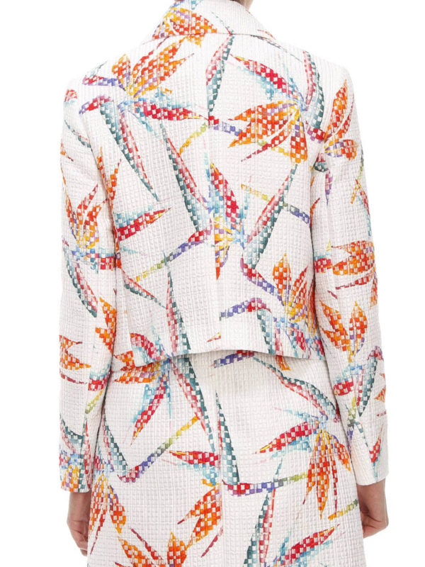 Bird of Paradise print jacket shop online: Fendi